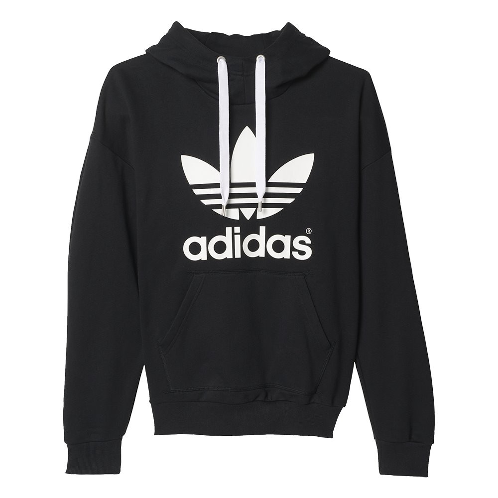 home women clothes hoodies adidas originals trefoil hoodie. Black Bedroom Furniture Sets. Home Design Ideas