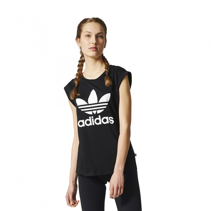 info for 72a84 2786e adidas originals - Boyfriend Trefoil Tee