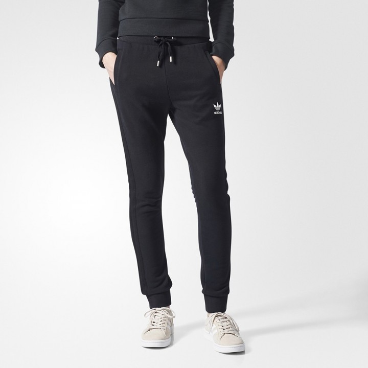 skinny leg adidas track pants