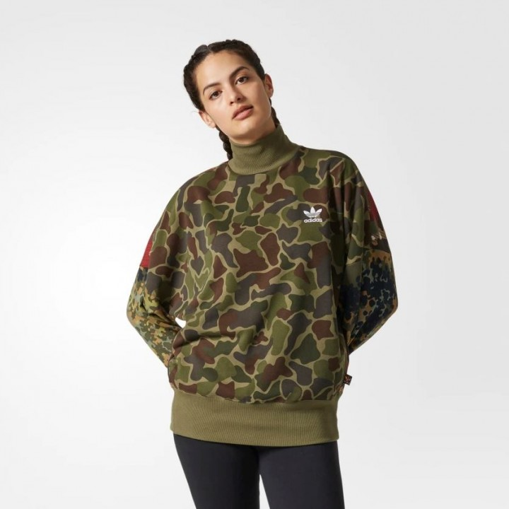 adidas originals Pharrell Williams Hu Hiking Camo Sweater Streetwear