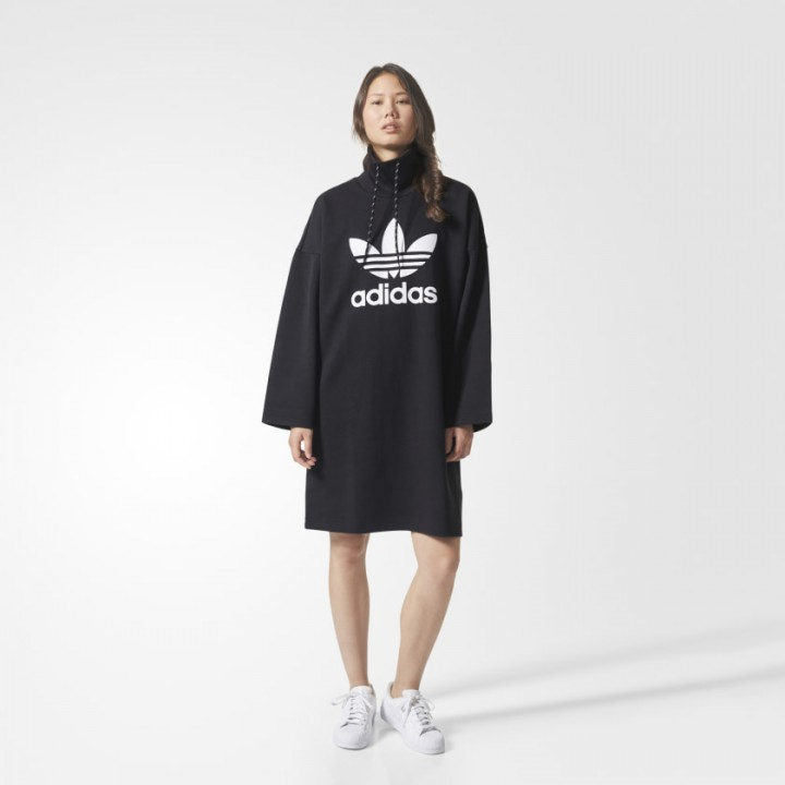 adidas long hoodie dress