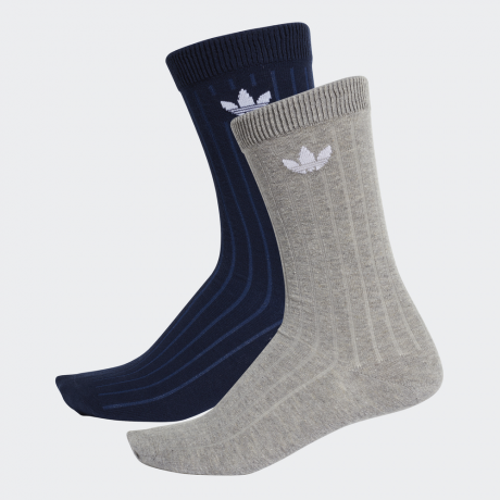 adidas Originals - Mid Ribbed Crew Socks 2 Pairs