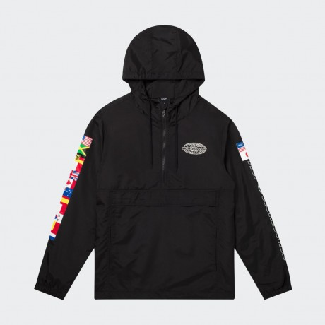 HUF - WORLD TOUR ANORAK JACKET BLACK