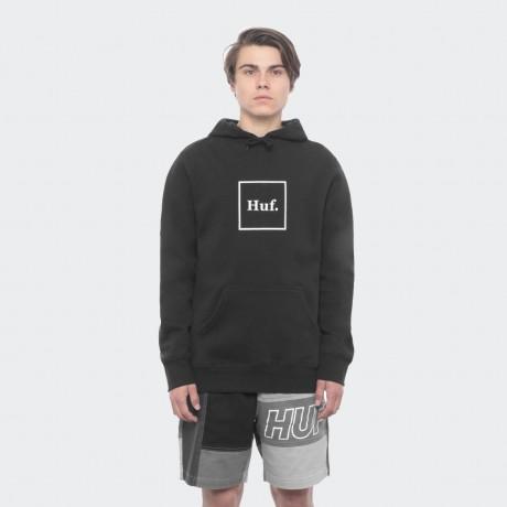HUF - BOX LOGO PULLOVER HOODIE BLACK