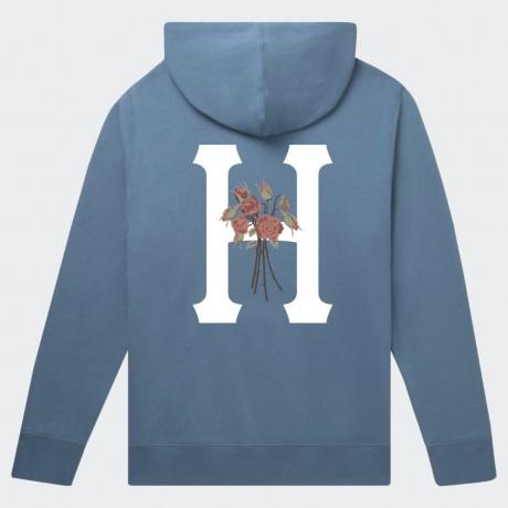 HUF - MEMORIUM CLASSIC H PULLOVER HOODIE BLUE MIRAGE