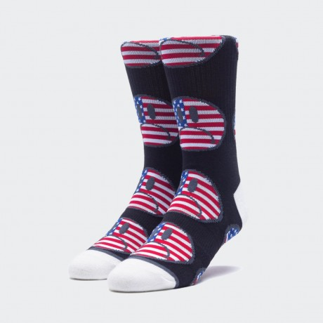 HUF - BUMMER USA SOCK BLACK