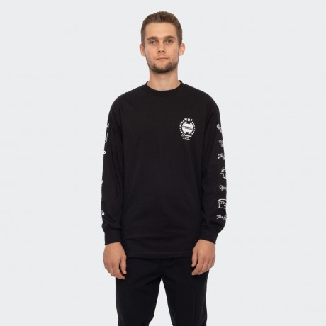 HUF - THE END LONG SLEEVE T-SHIRT BLACK
