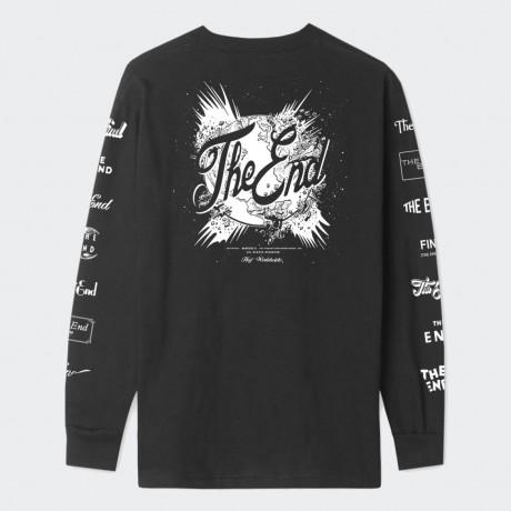 HUF - THE END LONG SLEEVE T-SHIRT BLACK