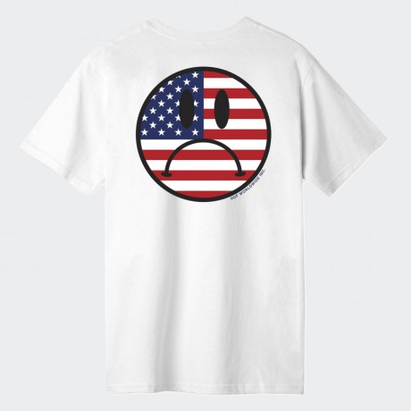 HUF - BUMMER USA T-SHIRT WHITE