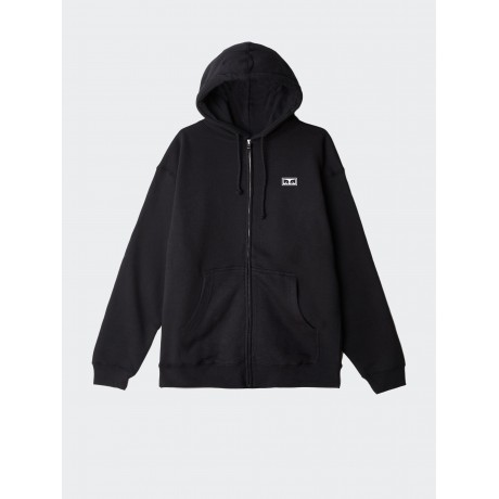 OBEY - Eyes 3 Basic Zip Hood Fleece Black