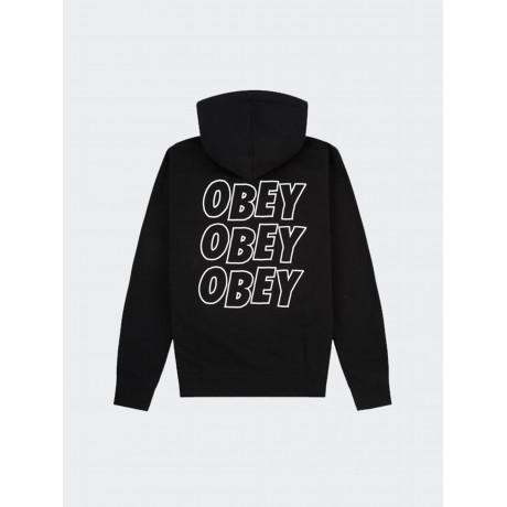 OBEY - Jumble Lo-Fi Basic Zip Fleece Hoodie Black