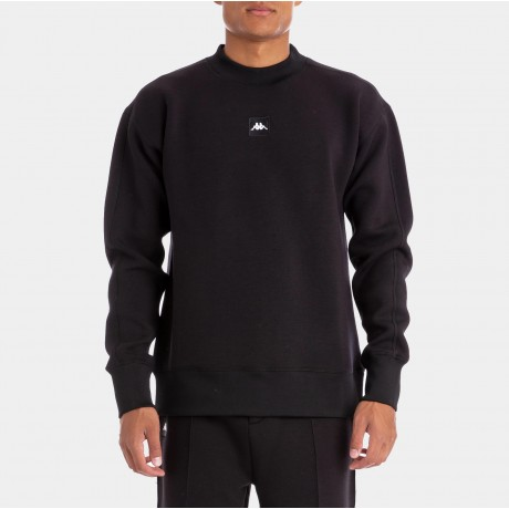 Kappa - AUTHENTIC JPN BARIN BLACK WHITE PULLOVER