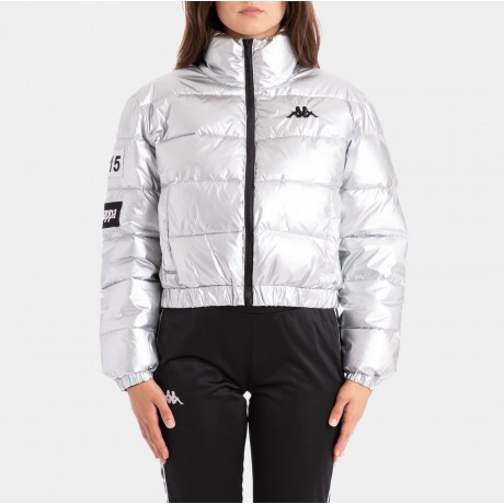 Kappa - AUTHENTIC LA BOLTAN SILVER BLACK WHITE JACKET