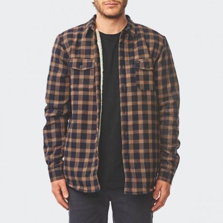 GLOBE - Camden II LS Shirt Pecan
