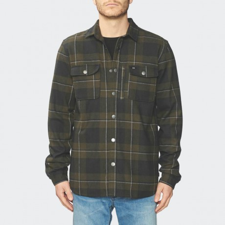 GLOBE - Clifton LS Shirt Field Green