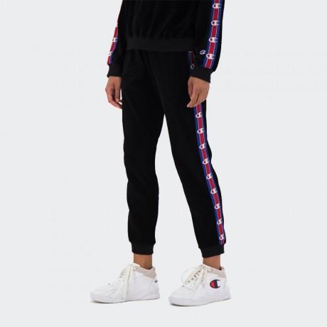 Champion - Reverse Weave Corduroy Logo Tape Cuffed Joggers Black