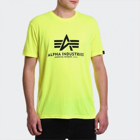 Alpha Industries - Basic T-Shirt Neon Yellow