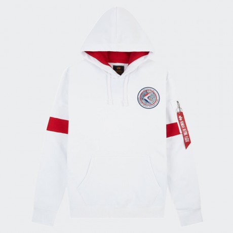 Alpha Industries - Apollo 15 Hoodie White