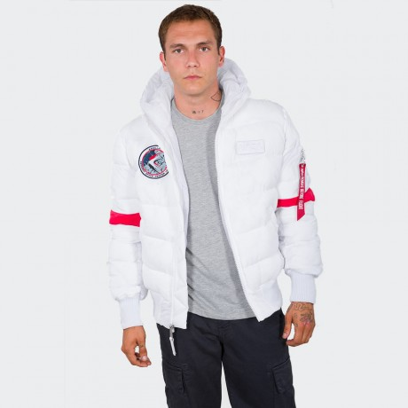 Alpha Industries - Hooded Puffer FD NASA White