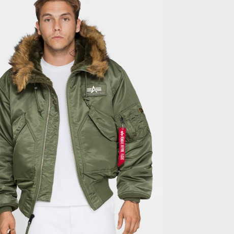 Alpha Industries - 45P Hooded Sage Green