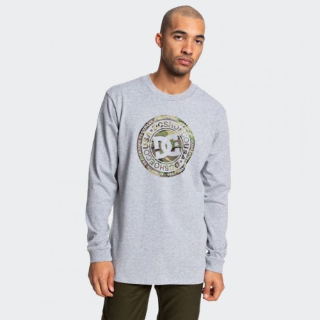 DC - CIRCLE STAR LONGSLEEVE 2 GREY HEATHER