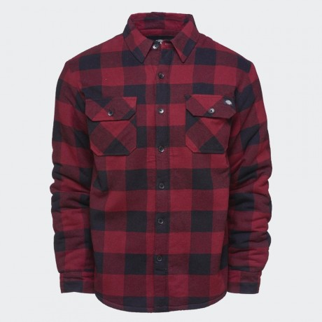 Dickies - Lansdale Long-Sleeved Lined Shirt Maroon