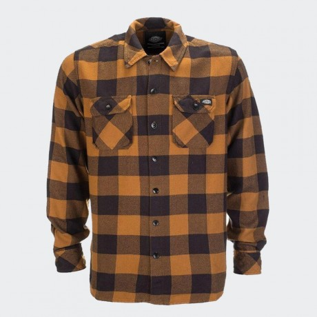 Dickies - Sacramento Long Sleeve Flannel Shirt Brown Duck