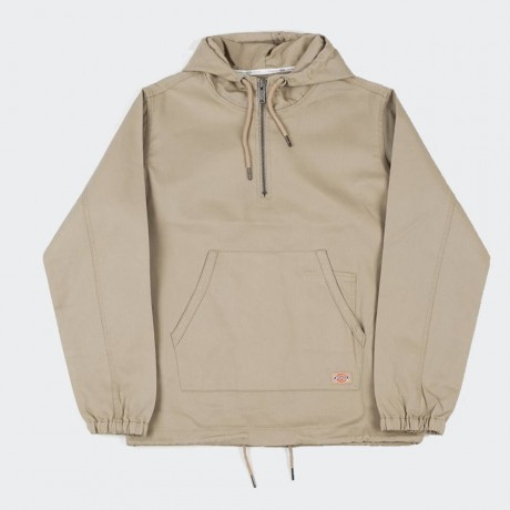 Dickies - Kevil Half Zip Hooded Jacket Khaki