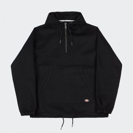 Dickies - Kevil Half Zip Hooded Jacket Black