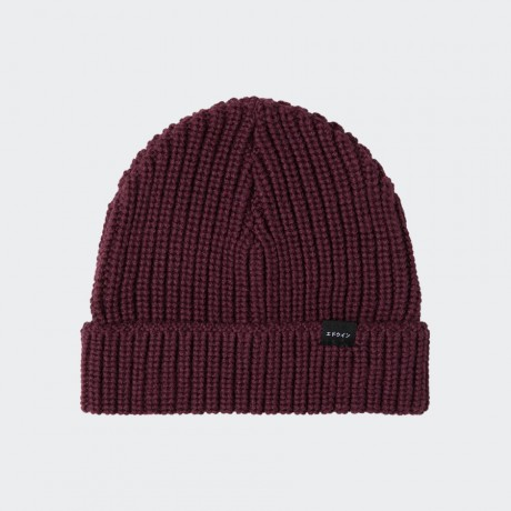 EDWIN - Purl Beanie Dark Purple