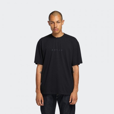 EDWIN - Katakana Embroidery T-Shirt Black