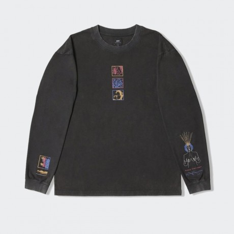 EDWIN - Hazy Dreams I LS-T-Shirt Black