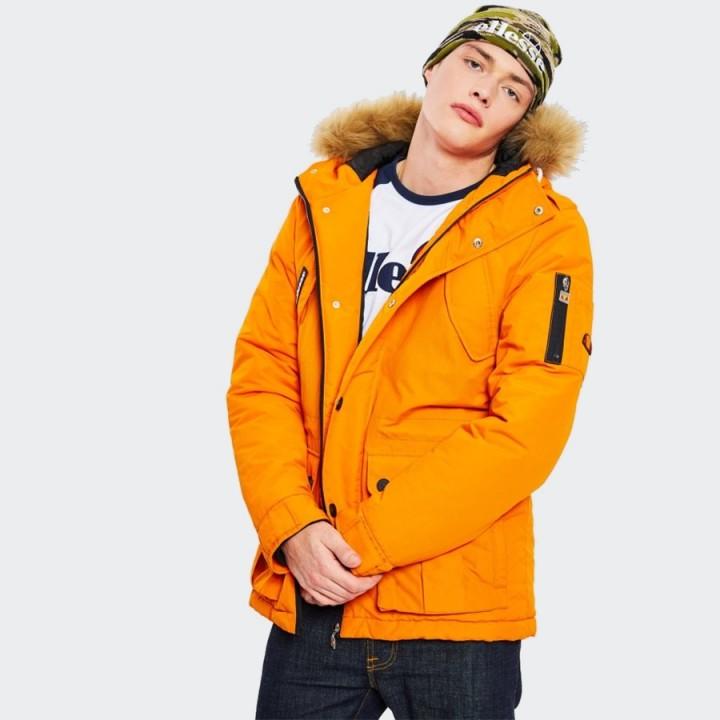 Ellesse Blizzard Parka Jacket Orange