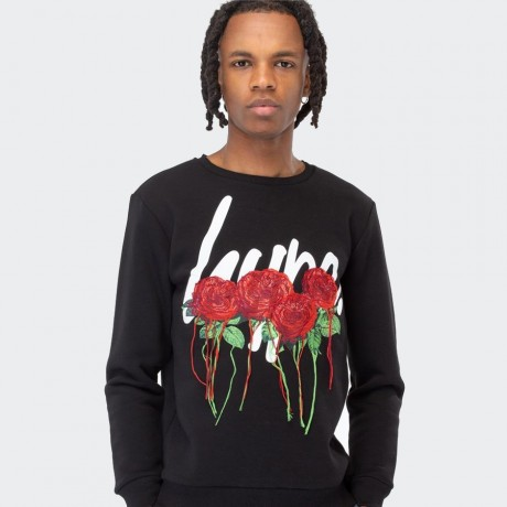 Just Hype - ROSE SCRIPT MEN'S CREW NECK