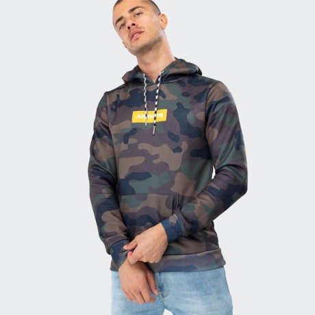 Just Hype - CAMO BOX LOGO MEN'S PULLOVER HOODIE