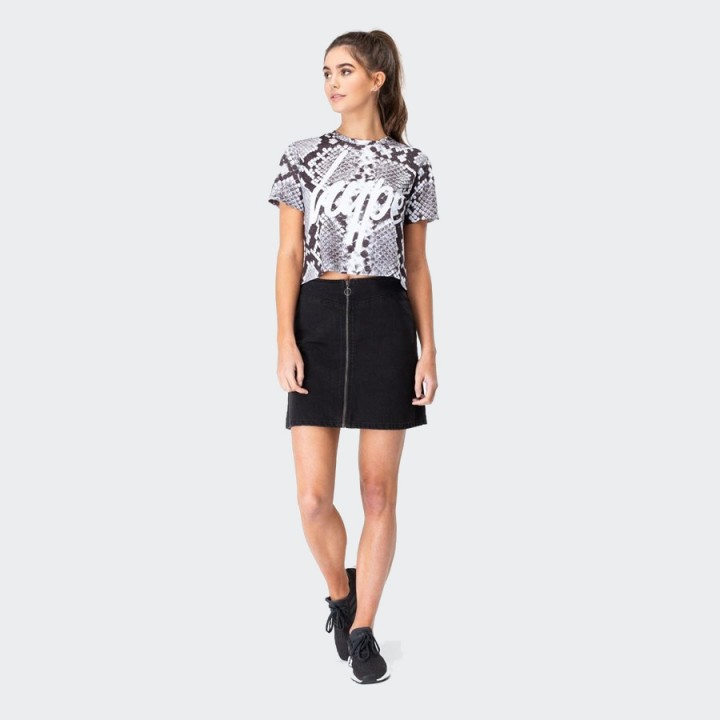Just Hype - MONO SNAKE WOMEN'S CROP T-SHIRT