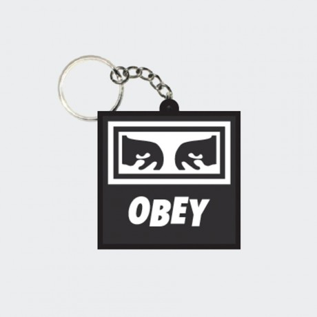 OBEY - Icon Eyes Rubber Keychain Black