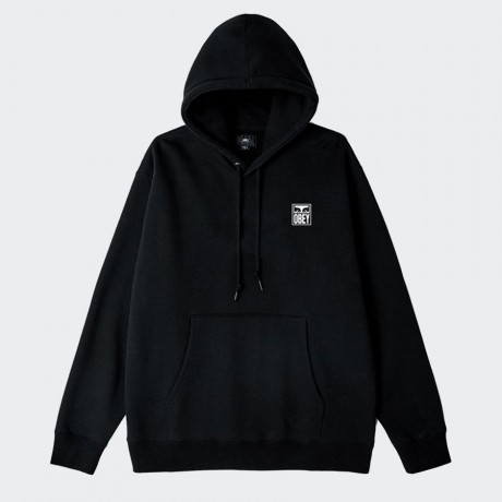 OBEY - Eyes Icon Box Fit Hood Black