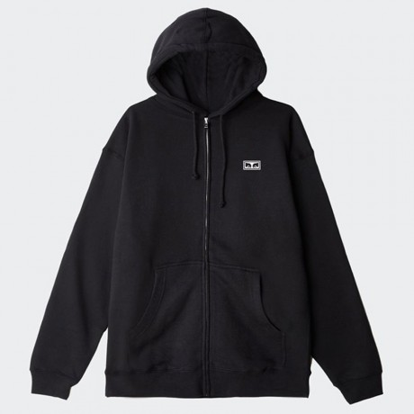 OBEY - Jumble Lo-Fi Basic Zip Fleece Hoodie Black