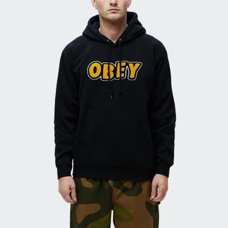 OBEY - Jumble Obey Pullover Hoodie Black