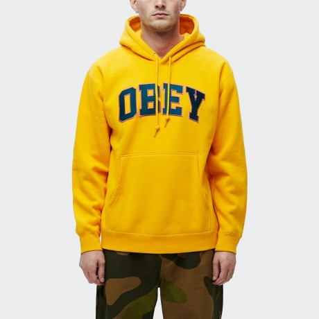 OBEY - Sports Pullover Hoodie Gold