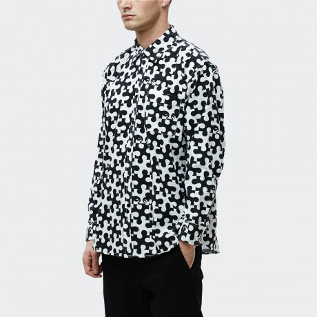 OBEY - Pieces Shirt White & Black