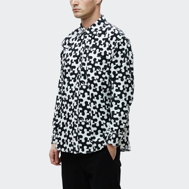 OBEY - Pieces Shirt White & Black