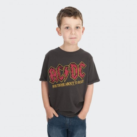 Amplified-Kids ACDC about to rock tshirt
