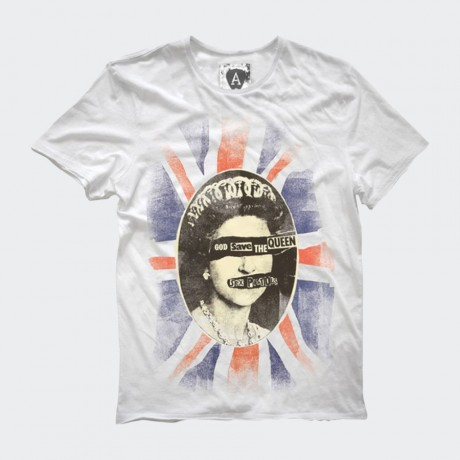 Amplified-Sex Pistols Queen Mens Crew T