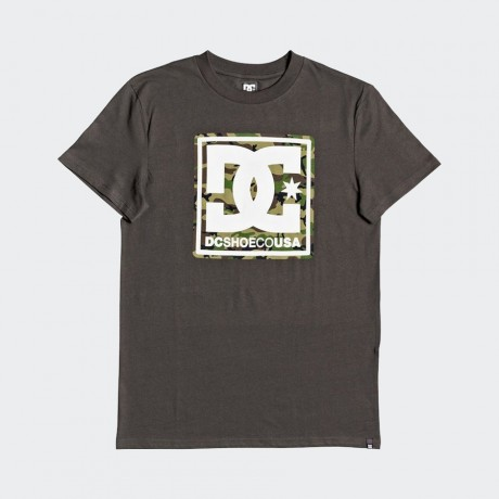 DC - PATTERN BOX TEE DARK OLIVE