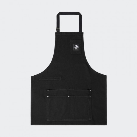 EDWIN - Louie Apron Black Stretch Denim/Rinsed