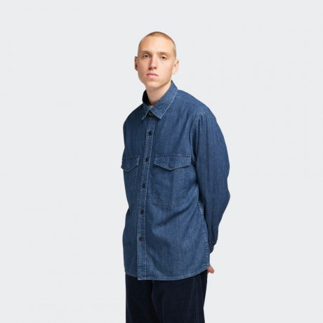 EDWIN - Big Shirt LS Blue Easy Stone Wash