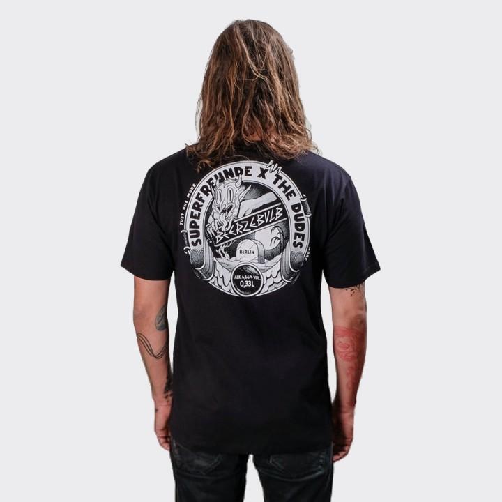 The Dudes - Beerzelbulb T-shirt Black