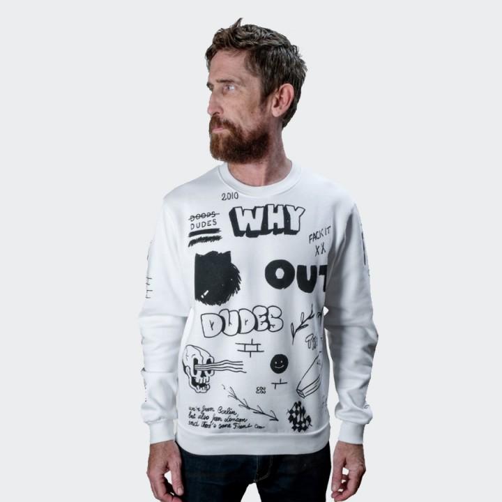 The Dudes - Draft Sweatshirt White